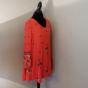 NWOT Free People Oxford Embroidered Shift Dress